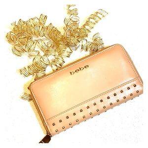 bebe Blush Pink Zippered Wallet